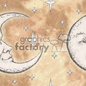 Seamless tiled moon background clipart. Commercial use image # 371344