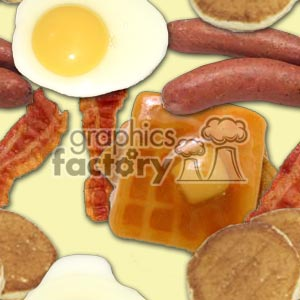 background backgrounds tiled wallpaper breakfast morning food egg eggs toast sausage bacon