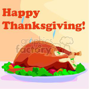 A Cooked Thanksgiving Day Turkey Steaming clipart. Commercial use image # 145393