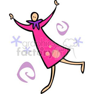 person celebrating the new year clipart. Royalty-free image # 145221