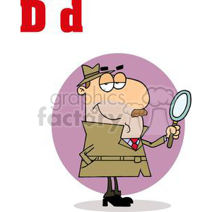 D as in Detective clipart. Royalty-free image # 377988