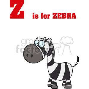 Z as in Zebra  with White and Black Stripes  clipart. Royalty-free image # 378038