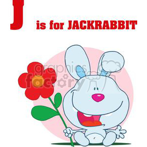J as in Jackrabbit  clipart. Commercial use image # 378078