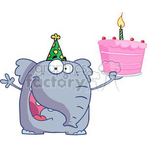 1st Birthday Party Cake clipart. Royalty-free image # 378083
