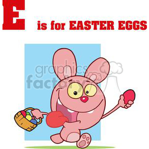 E is for Easter Eggs in Red Letters clipart. Royalty-free image # 378133