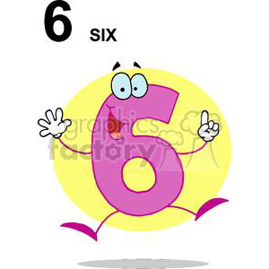Happy Jumping Number 6 clipart. Royalty-free image # 378148