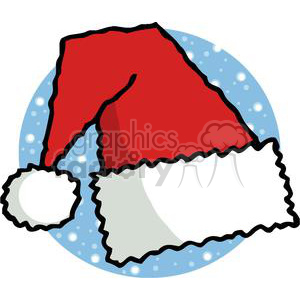 A Red and White Santa Hat clipart. Commercial use image # 378158