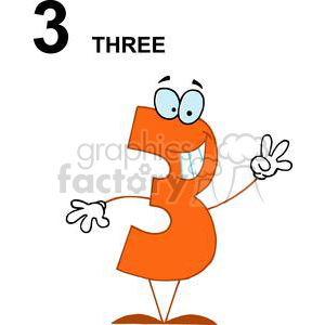 Happy Number 3 Hold up Three fingers clipart. Commercial use image # 378168