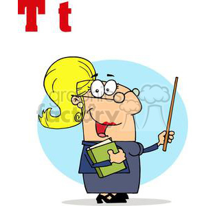 Alphabet Letter T as in Teacher clipart. Royalty-free image # 378173