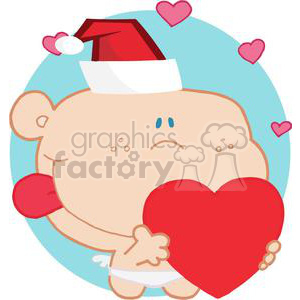 Cupid with Big Heart clipart. Commercial use image # 378178