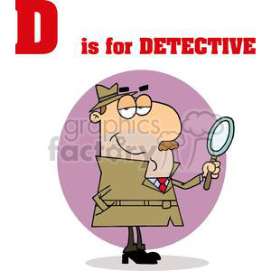 Alphabet Letter D as in Detective clipart. Royalty-free image # 378183