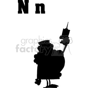 Alphabet Letter N as Nurse clipart. Royalty-free image # 378193