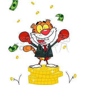 A JoyousTiger alated With Victory clipart. Royalty-free image # 378218