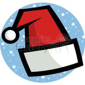 Santa Hat With Snow Falling In Background clipart. Royalty-free image # 378228