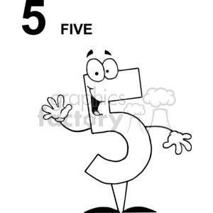 Happy Number 5  clipart. Royalty-free image # 378248