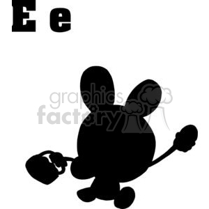 E is the first letter in Easter clipart. Royalty-free image # 378258