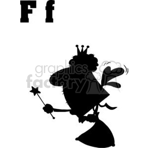 Cartoon Fairy for the Alphabet Letter F clipart. Royalty-free image # 378303