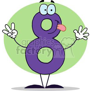 Silly Number 8 clipart. Royalty-free image # 378353