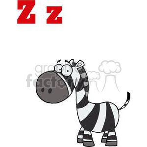 A Smiling Zebra with Black and White Stripes clipart. Royalty-free image # 378398
