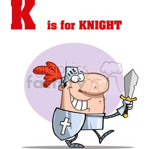 Alphabet Letter K as in Knight  clipart. Commercial use image # 378413