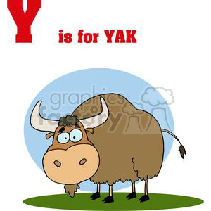 Yak Grasing in a Field clipart. Royalty-free image # 378438