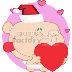 Romantic Cupid with Heart clipart. Royalty-free image # 378483