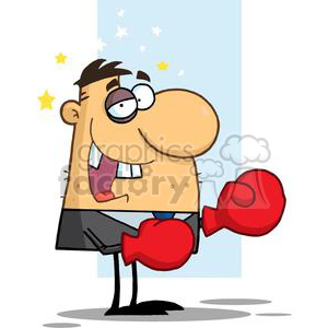 cartoon vector funny clipart boxer boxing boxers black eye seeing stars fight argue argument silly