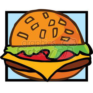 Fast Food Hamburger clipart. Commercial use image # 378985