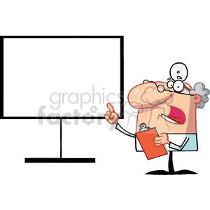 A Male Doctor Shows A Finger Board clipart. Royalty-free image # 378995