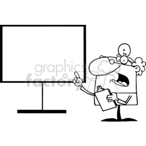 Male Doctor With Clip Board In Hand Pointing At The Board clipart. Royalty-free image # 379000