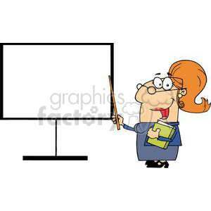 Teacher With A Pointer Displayed On The Dashboard clipart. Royalty-free image # 379005