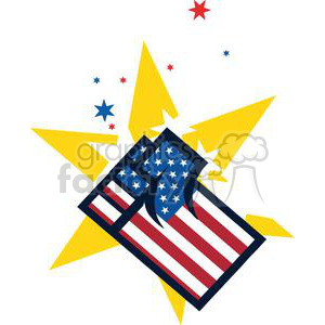 American Patriotic Fist With Stars