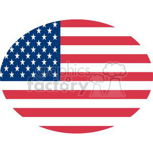 The American Flag With White Stars Over Blue And Rows Of Red Oval clipart. Royalty-free image # 379025
