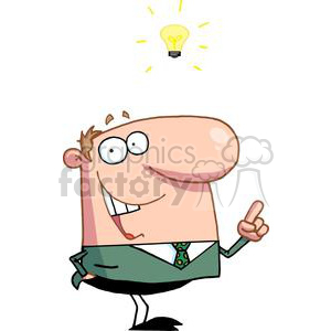 A Businessman Has Light Bulb Moment clipart. Royalty-free image # 379085
