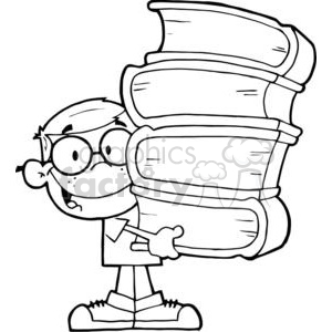 A Little Boy With Books In His Hands clipart. Commercial use image # 379110