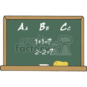 School Chalk Board With Text ABC's and Mathematics clipart. Commercial use image # 379190