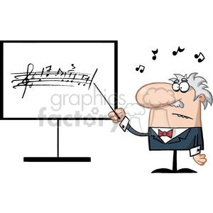 AProfessor Of Music Holds A Baton While Teaching clipart. Commercial use image # 379220