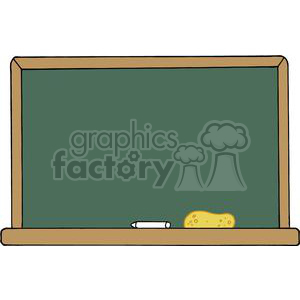 A Green Chalk Board clipart. Commercial use image # 379280