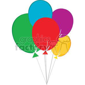Happy Birthday Baloons clipart. Commercial use image # 379310