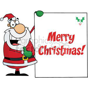 Holiday Greetings With Santa Claus clipart. Commercial use image # 379320