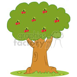 Wood Covered With Red Cherries clipart. Royalty-free image # 379370