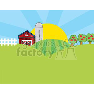 Country Farm clipart. Royalty-free image # 379415