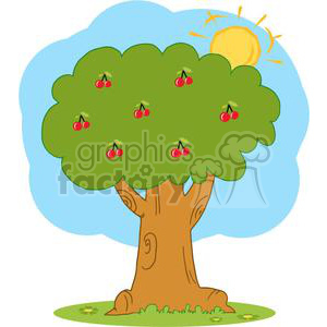 Wood Covered With Red Cherries clipart. Royalty-free image # 379420