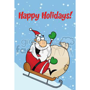 Holiday Greetings With Santa Claus animation. Royalty-free animation # 379475