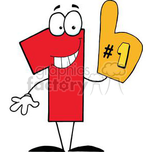 Number One Cartoon Character clipart. Royalty-free image # 379545