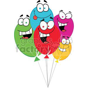 Happy Birthday Baloons clipart. Commercial use image # 379560