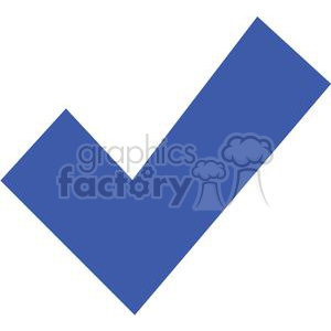 blue check mark clipart. Commercial use image # 379603