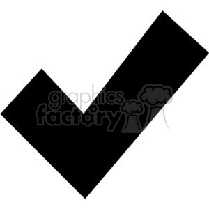 black check mark clipart. Commercial use image # 379608