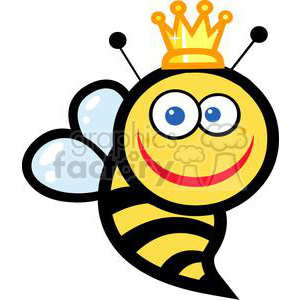Smiling queen bee clipart. Commercial use image # 379638