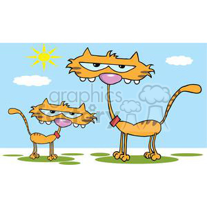 2611-Royalty-Free-Cute-Kitten-Father-In-Sun-Day clipart. Royalty-free image # 379658